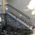 Kültéri kovácsoltvas lépcsőkorlát karikával