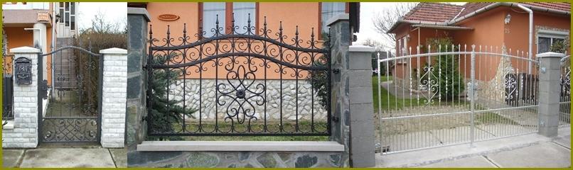 Kovácsoltvas kapuk, kerítések